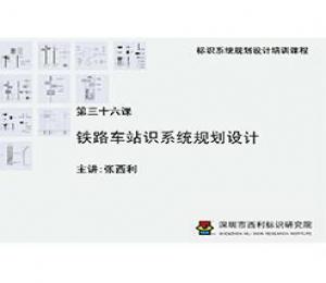 标识系统规划设计培训课程 第三十六课 铁路车站识系统规划设计