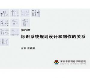 标识制作工艺师培训课程 第六课 标识系统规划设计和制作的关系